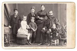 Old time family photo istock photo