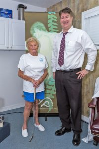 Dr. Craig S. Aderholdt of Back Pain Institute of West Florida in Bradenton and Sarasota treated Jean Potter for low back pain with VAX-D® therapy.