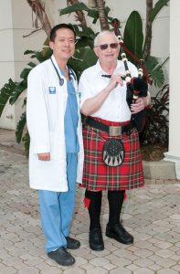 Thanks to everyone at Manatee Memorial Hospital, bagpipe player John States had a successful journey from the cath lab to bypass surgery and beyond.