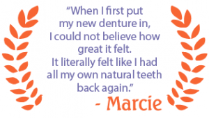 Marcie Bacon finally found a workable solution to her longstanding dental problem after she met with Dr. Patel at Palm Coast Family Dentistry.