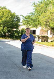 Nadine Fraser underwent RFA treatment on her leg and feels better.