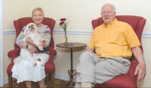 Husband and wife residents Ron and Lee Seaman discuss their lives at Concordia Village of Tampa.