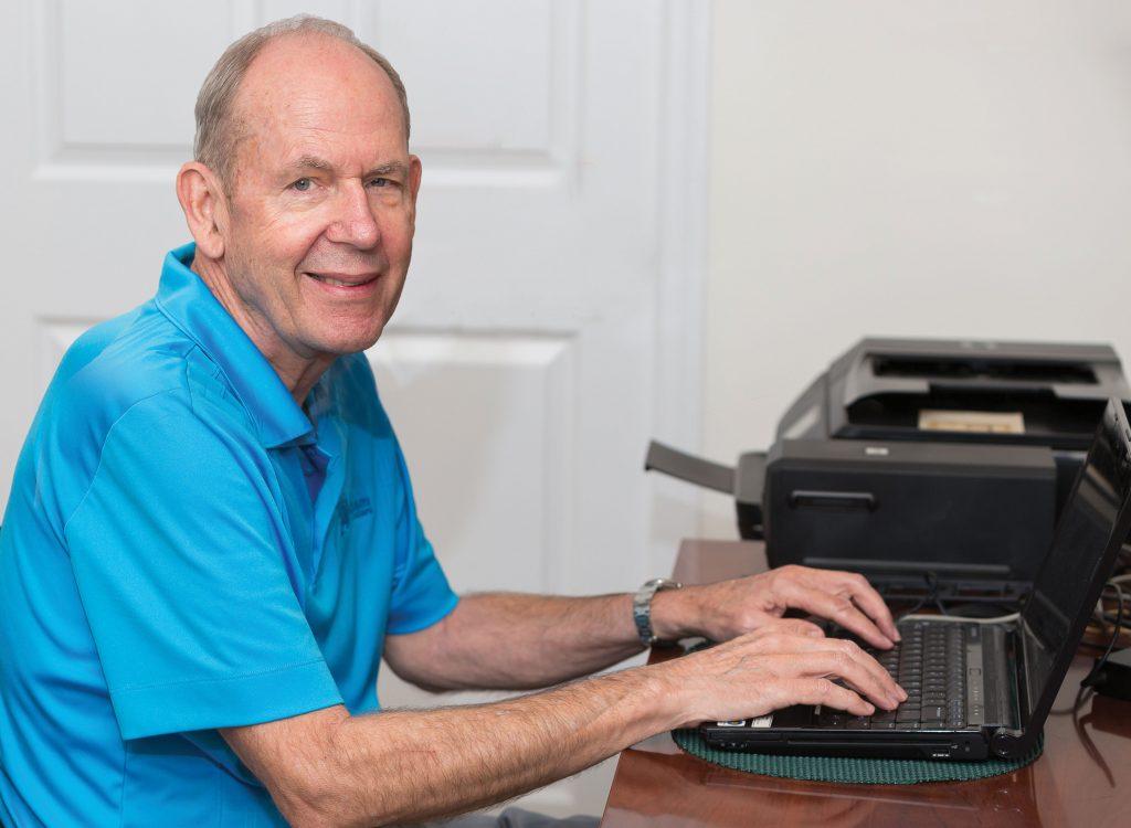 Arvid at his computer