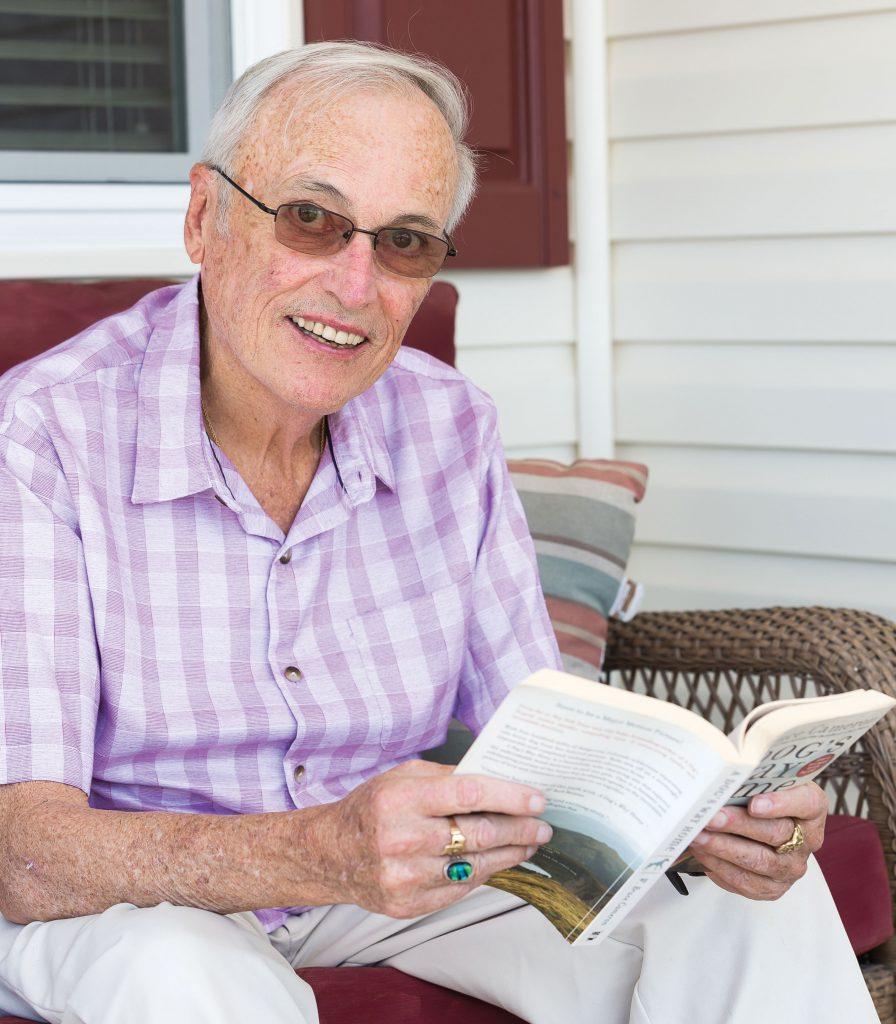 Thomas Lee reading a book
