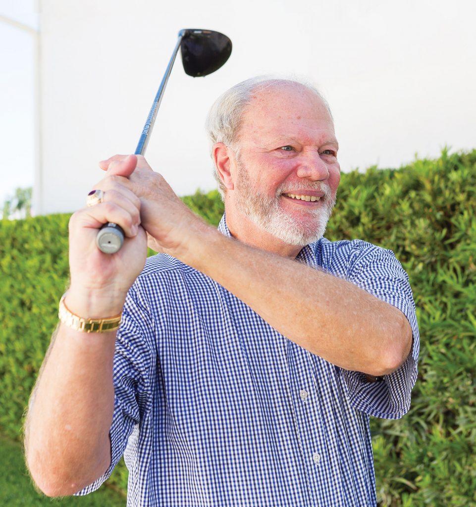 Thomas Hayes swinging a golf club