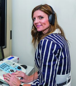 Dr. Hodges uses advanced technology to diagnose hearing loss in her patients.